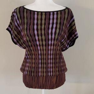 Missoni Striped Oversized Sweater Tunic Top Sz 4
